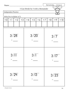 Division with Remainders | Special Education Math | Intervention