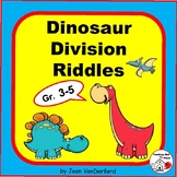 DIVISION PROBLEMS  DINOSAUR MATH RIDDLES  Color Dinosaurs  Grades 3 - 4 math