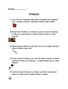Division in Spanish/Division Bilingual