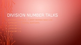 Division number strings (Can be used as Number Talks)