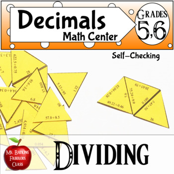 Division of Decimals Math Center