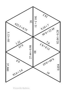 Division of Decimals Math Center