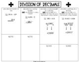Division of Decimals Fill-In Resources