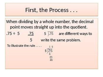 Division of Decimals by Whole Numbers   Group Lesson