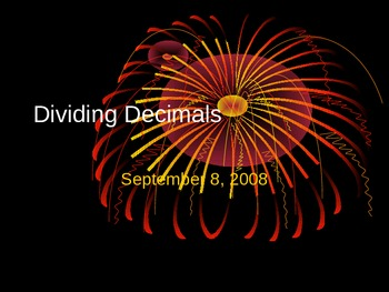 Division of Decimals by decimals and whole numbers