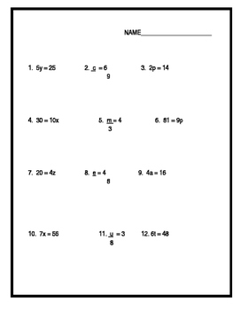 Division of Equations