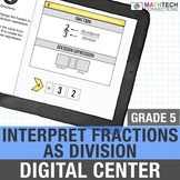Division of Fractions - 5th Grade Math Center for use with Google Drive™