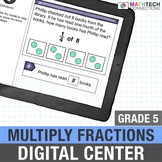 Multiplying Fractions - 5th Grade Math Center for use with