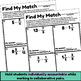 Division of Fractions Find My Match Partner Activity