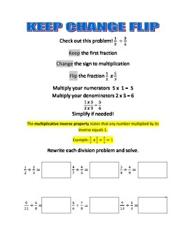 Division of Fractions Student Notes