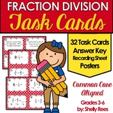 Fraction Division Task Cards and Poster Set - Dividing Fractions