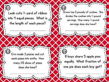 Fraction Division Task Cards and Poster Set - Dividing Fractions