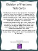Division of Fractions Task Cards using QR codes
