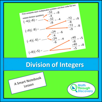 Middle School:  Division of Integers