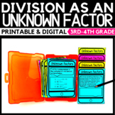 Division as an Unknown Factors - Classroom and Distance Learning