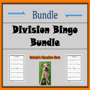 Division of Whole Numbers Bingo Package (5 products!)