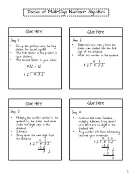 Division of Whole Numbers Differentiated Interactive Notes