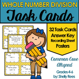 Division of Whole Numbers Task Card and Poster Set