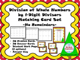 Division of Whole Numbers by 1-Digit Divisors Matching Car