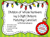 Division of Whole Numbers by 1-Digit Divisors  With Remain