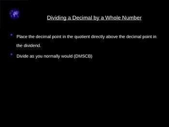 Division of decimals
