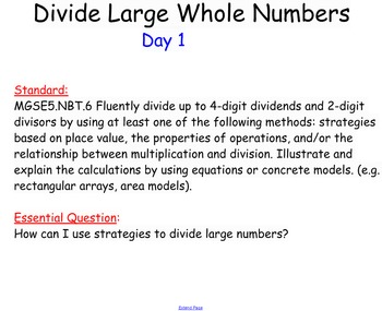 Division of larger whole numbers
