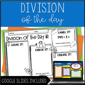 Division of the Day for Upper Grades by Jennifer Findley | TpT