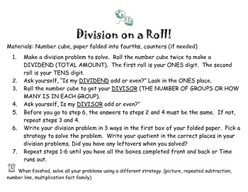 Division on a Roll