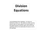 Math---Division problems without answers