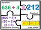 Division with distributive Property Area model 3 digit div