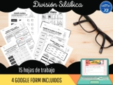 División silábica (Hojas de trabajo y Google form)