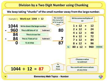 Division using Chunking for Elementary School Math
