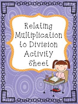 Division using Multiplication Activity Sheet