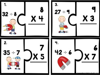 Division using Multiplication Puzzles