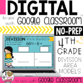 Google Classroom Division using Area Models Distance Learning