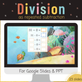 Division using repeated subtraction Google Slides PPT