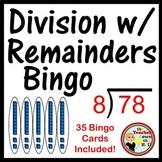 Division with Remainders Bingo Classroom Game 35 Bingo Cards!