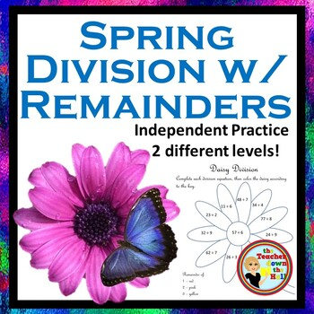 Division with Remainders - Color the Remainders - Spring