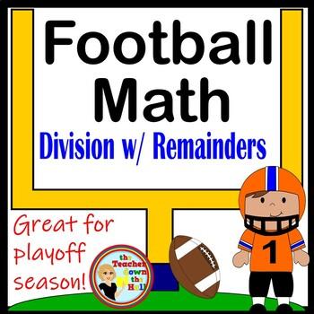 Division w/ Remainders -Super Football Math