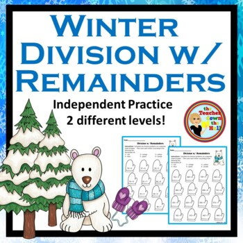 Division w/ Remainders - Color the Remainder - Winter