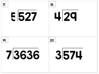 Division with 1 Digit Divisor with Remainders
