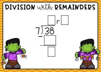 Division with 1-Digit Quotients and Remainders Digital Boom Cards