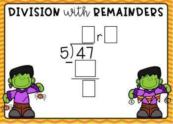 Division with Remainders: 1-Digit Quotients Digital Boom Cards