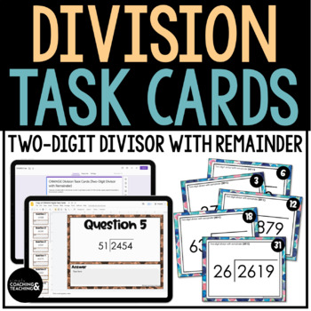 Division with 2 Digit Divisor with Remainders