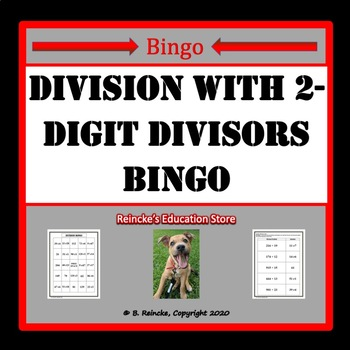 Division with 2-Digit Divisors Bingo (30 pre-made cards!!!)