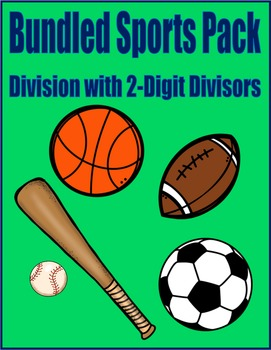 Sports Bundle Math Skills & Learning Center (Division with
