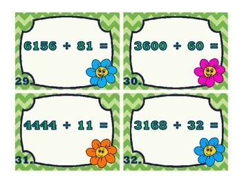Division with 2-Digit Divisors Task Cards