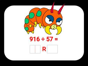 Division with 2 and 3-Digit Quotients and Remainders Digital Boom Cards Eureka