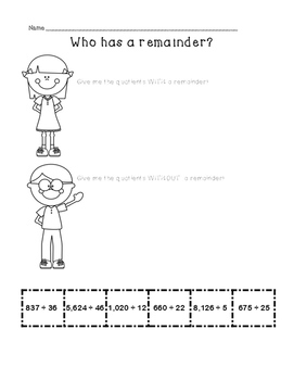 Division with 2 digit divisors