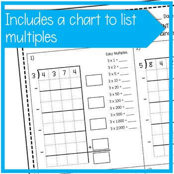 Division with 4-Digit Dividends Using Partial Quotients | Fourth Grade